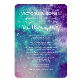Galaxy Wedding Programs 13 Cm X 18 Cm Invitation Card