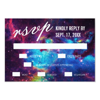 Galaxy Wedding RSVP Cards 9 Cm X 13 Cm Invitation Card
