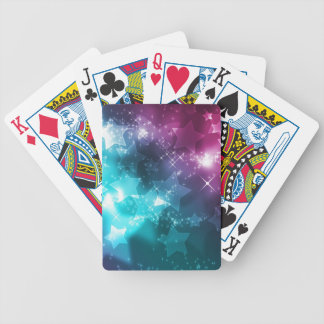 Galaxy with stars bicycle playing cards