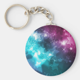 Galaxy with stars key ring