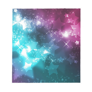 Galaxy with stars notepad