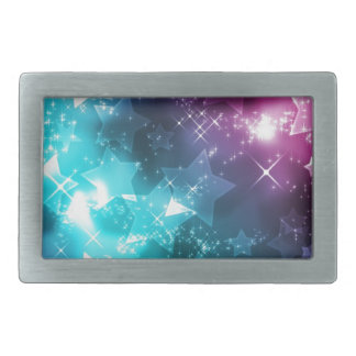 Galaxy with stars rectangular belt buckles