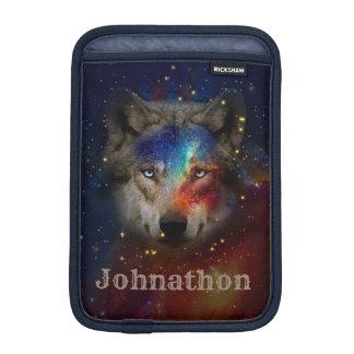 Galaxy Wolf For Men And Teen Boys iPad Mini Sleeve