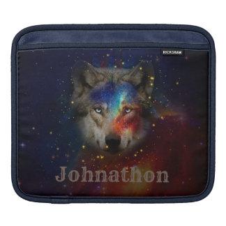 Galaxy Wolf For Men And Teen Boys iPad Sleeve