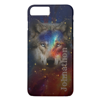 Galaxy Wolf For Men And Teen Boys iPhone 8 Plus/7 Plus Case