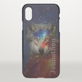 Galaxy Wolf For Men And Teen Boys iPhone X Case