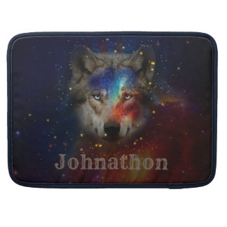 Galaxy Wolf For Men And Teen Boys Sleeve For MacBook Pro