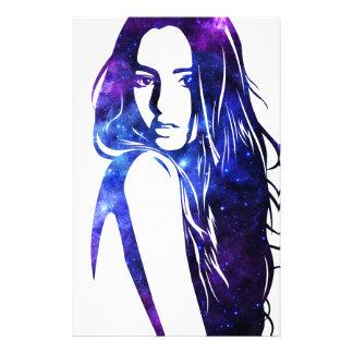 Galaxy woman - Woman Galaxy Stationery