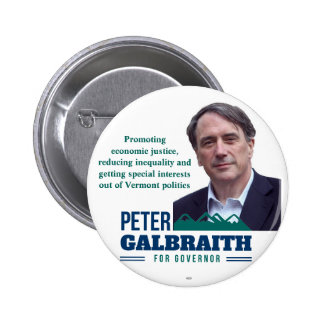 Galbraith for VT Governor 2016 political button