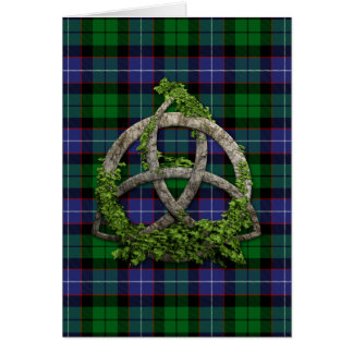 Galbraith Tartan And Celtic Trinity Knot Card