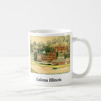 Galena Illinois, Watercolor Classic White Coffee Mug