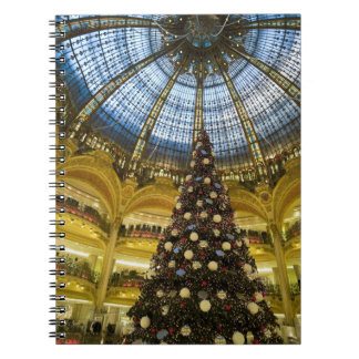 Galeries La Fayette at Christmas, Paris, France Notebook