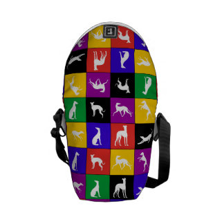 Galgo Patchwork, multicolored - mini curing ashes Courier Bag
