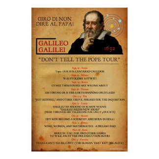 Galileo 1632 Heresy Tour Poster