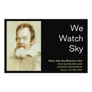 Galileo Galilei 14 Cm X 21.5 Cm Flyer