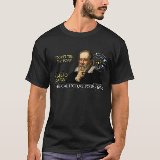 Galileo Heretical Lecture Tour Shirt (Men's Dark)