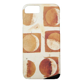 Galileo moon phases drawing sketch astronomy iPhone 7 case