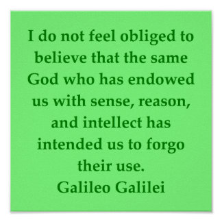 Galileo quote poster