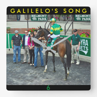 Galileo's Song Square Wall Clock