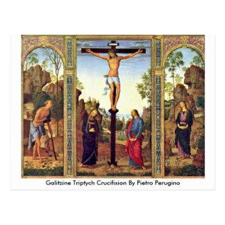 Galitzine Triptych Crucifixion By Pietro Perugino Postcard