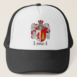 GALLEGOS FAMILY CREST -  GALLEGOS COAT OF ARMS TRUCKER HAT