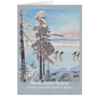Gallen-Kallela Kalela Scaters Luistelijat CC0813 Card