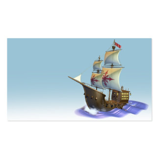 Galleon ship pack of standard business cards