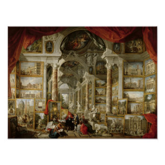 Gallery with Views of Modern Rome 1759 Poster