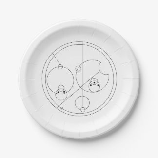 Gallifreyan I Love You Plates 7 Inch Paper Plate