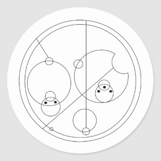 Gallifreyan I Love You Stickers