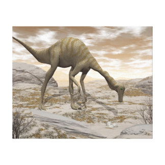 Gallimimus dinosaur - 3D render Canvas Print