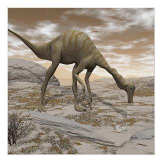 Gallimimus dinosaur - 3D render Poster