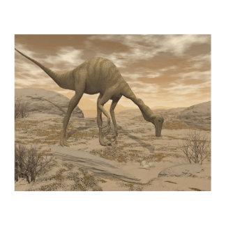 Gallimimus dinosaur - 3D render Wood Print