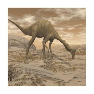 Gallimimus dinosaur - 3D render Wood Wall Art
