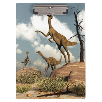 Gallimimus dinosaurs - 3D render Clipboard