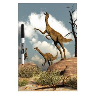 Gallimimus dinosaurs - 3D render Dry Erase Board