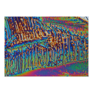 Gallium nitrate under the microscope 13 cm x 18 cm invitation card