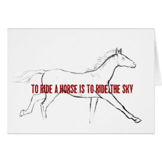 GALLOP 5x7 GREETING CARD