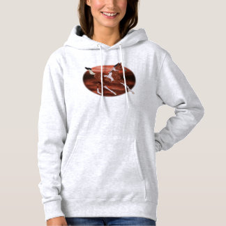 Galloping Bay and White Paint Horse Foal Hoodie