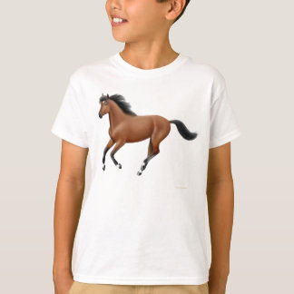 Galloping Bay Horse Kids T-Shirt