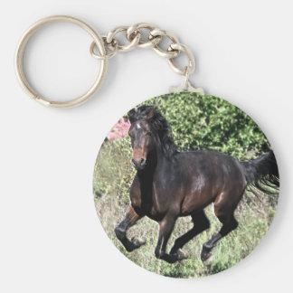 Galloping Chestnut Horse Key Ring