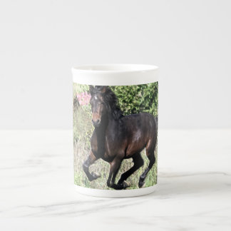 Galloping Chestnut Horse Tea Cup