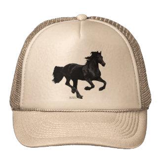 Galloping Friesian Mesh Hats