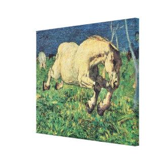 Galloping Horse by Giovanni Segantini, Vintage Art Canvas Print
