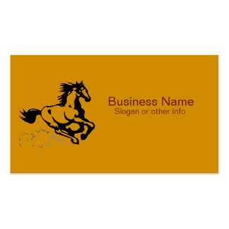 Galloping Horse Wild and Free Business Card Templates