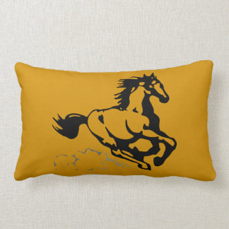 Galloping Horse Wild and Free Throw Pillow