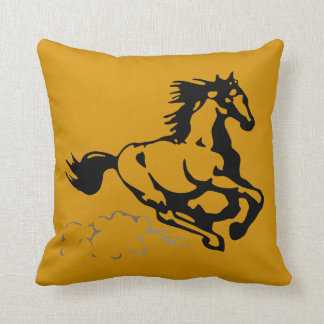 Galloping Horse Wild and Free Pillow