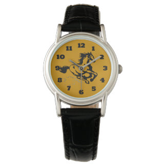 Galloping Horse Wild and Free Wristwatches