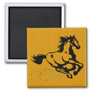 Galloping Horse Wild and Free Fridge Magnet