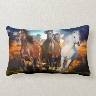 Galloping Horses Pillow Cushion